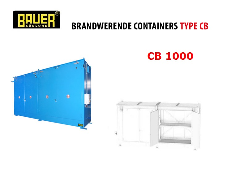 Brandwerende Containers CB 1000 | DKMTools - DKM Tools