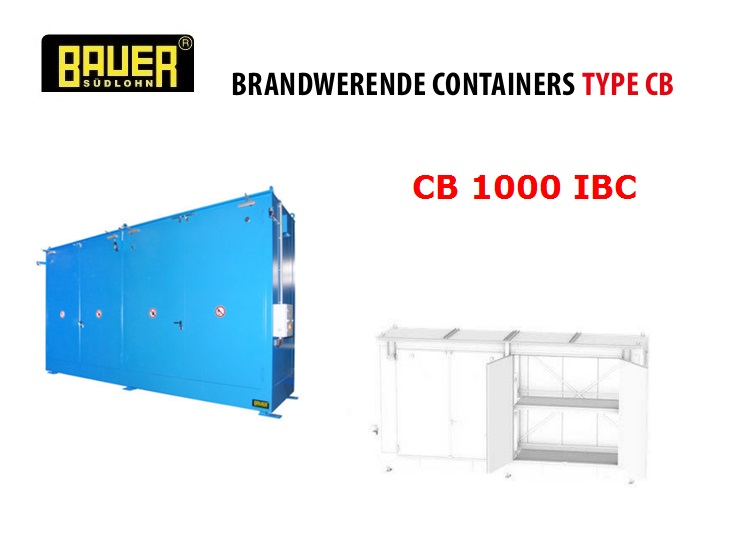 Brandwerende Containers CB 1000 IBC | DKMTools - DKM Tools