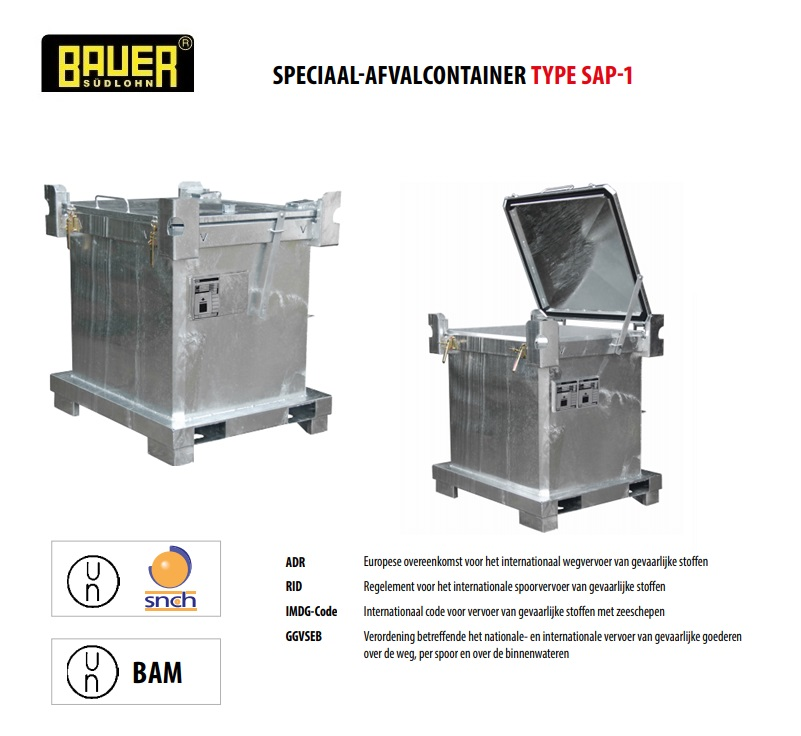 Speciaal-afvalcontainer SAP-1 | DKMTools - DKM Tools