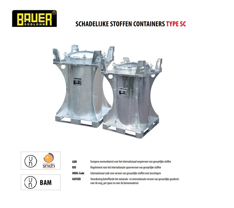 Schadelijke stoffen container SC | DKMTools - DKM Tools