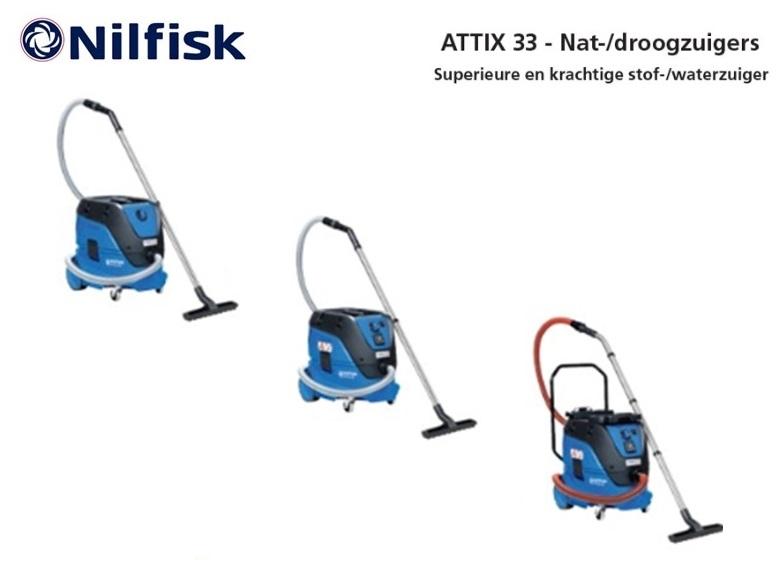 Nilfisk ATTIX 33 nat-droogzuiger | DKMTools - DKM Tools