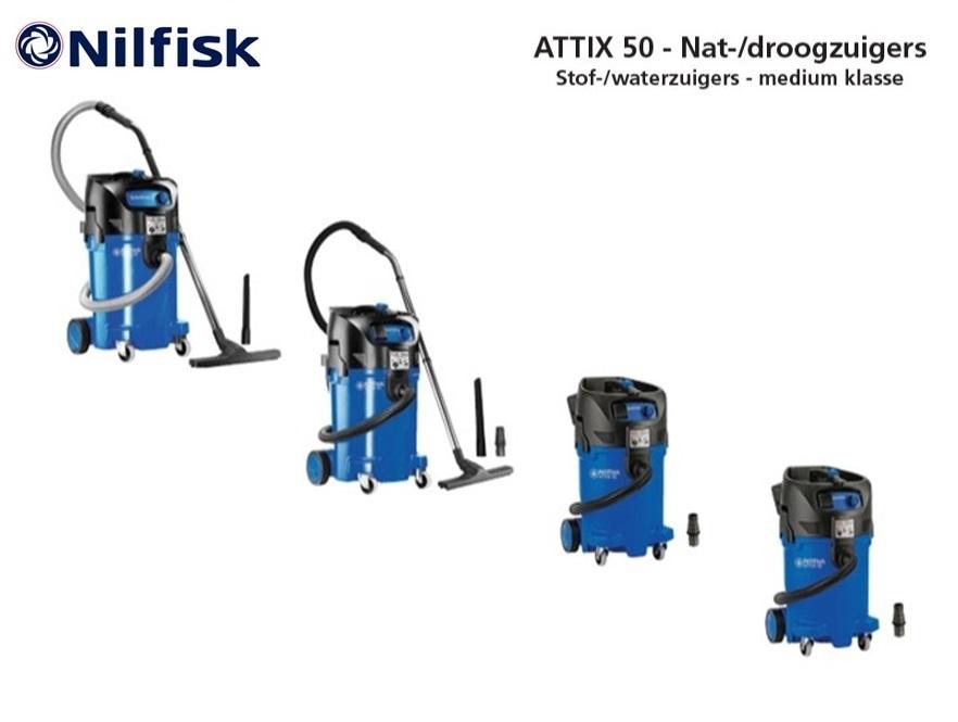 Nilfisk ATTIX 50 nat-droogzuiger | DKMTools - DKM Tools