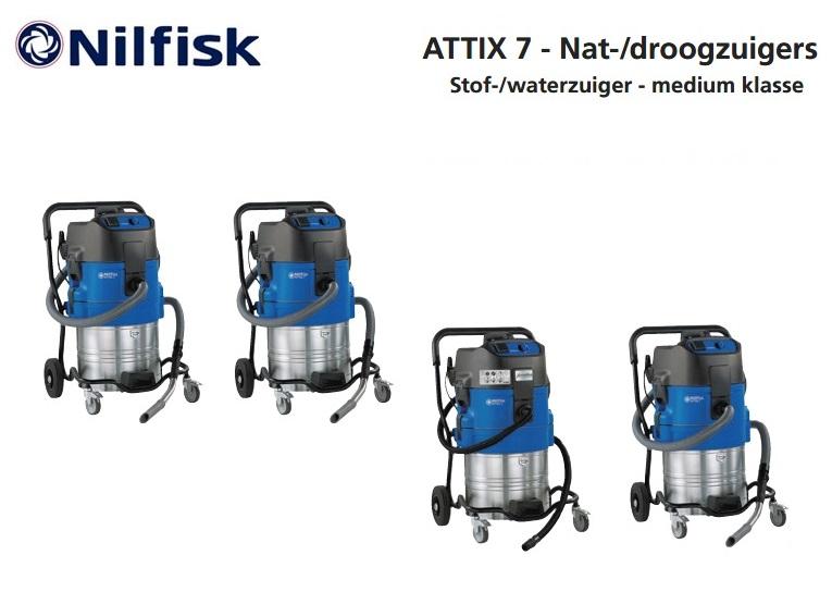Nilfisk ATTIX 7 nat-droogzuiger | DKMTools - DKM Tools