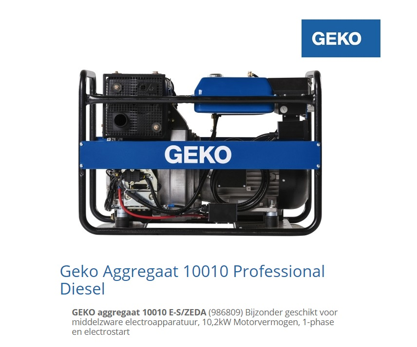 Diesel Aggregaat 10010 E-S-ZEDA | DKMTools - DKM Tools