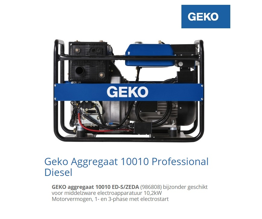 Diesel Aggregaat 10010 ED-S-ZEDA | DKMTools - DKM Tools