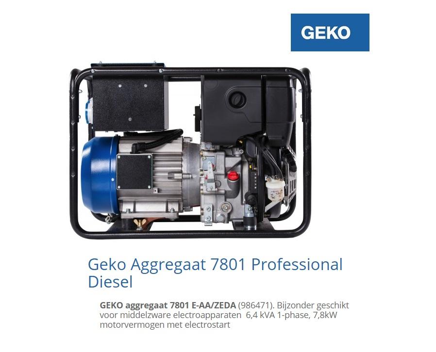 Diesel Aggregaat 7801 E-AA-ZEDA | DKMTools - DKM Tools