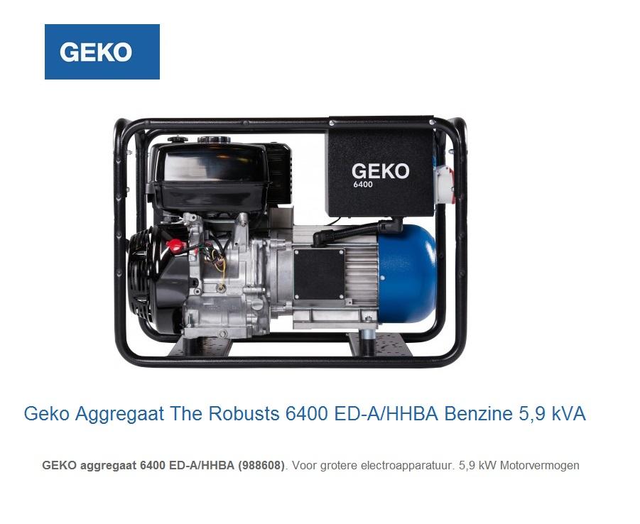 Geko Aggregaat The Robusts 6400 ED-A-HHBA | DKMTools - DKM Tools