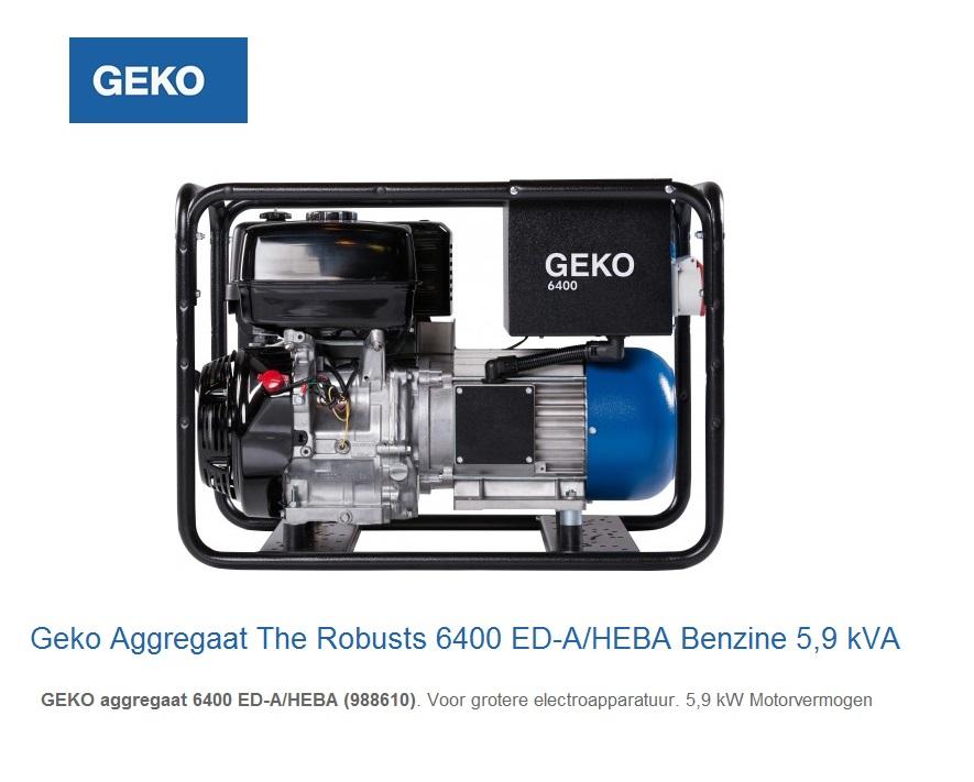 Geko Aggregaat The Robusts 6400 ED-A-HEBA | DKMTools - DKM Tools