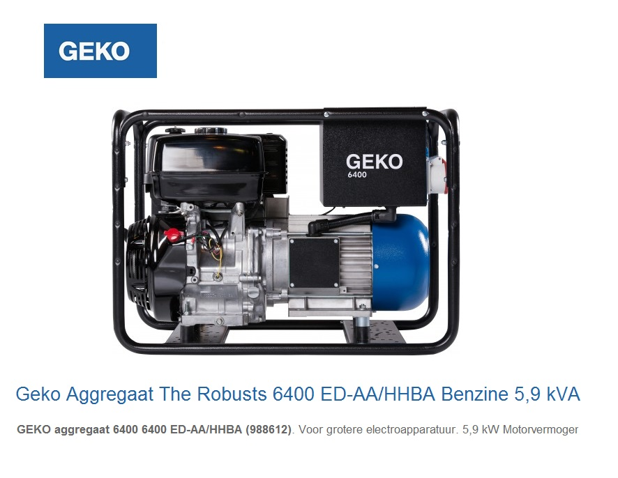 Geko Aggregaat The Robusts 6400 ED-AA-HHBA | DKMTools - DKM Tools