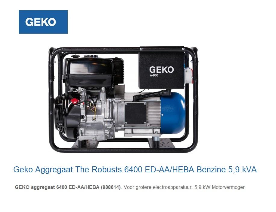 Geko Aggregaat The Robusts 6400 ED-AA-HEBA | DKMTools - DKM Tools