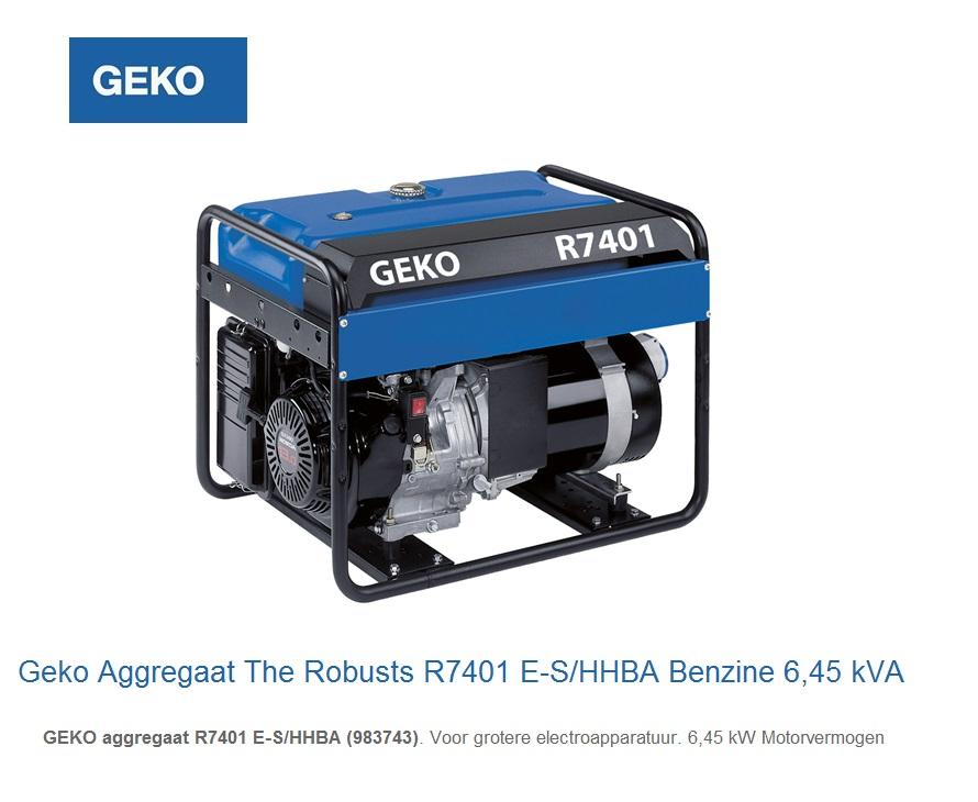 Geko Aggregaat The Robusts R7401 E-S-HHBA | DKMTools - DKM Tools