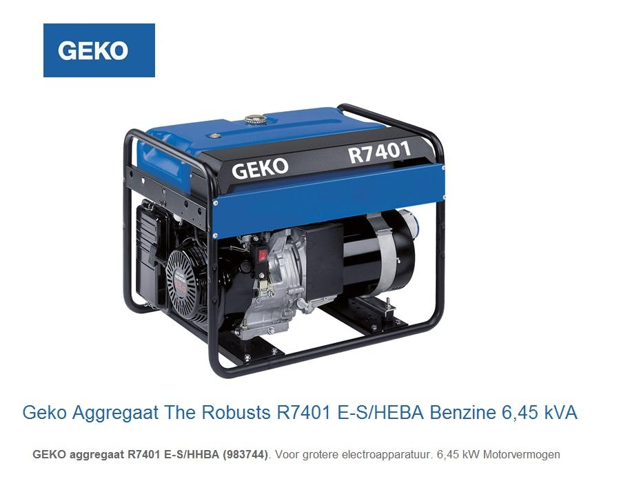 Geko Aggregaat The Robusts R7401 E-S-HEBA | DKMTools - DKM Tools