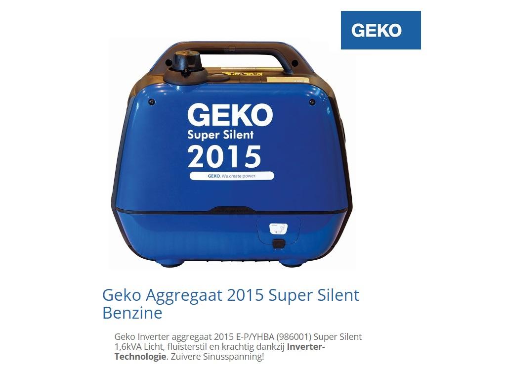 Super silent Benzine Aggregaat 2015 E-P | DKMTools - DKM Tools