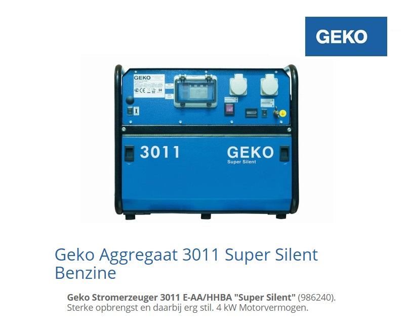Super silent Benzine Aggregaat 3011 E-A-HHBA SS | DKMTools - DKM Tools
