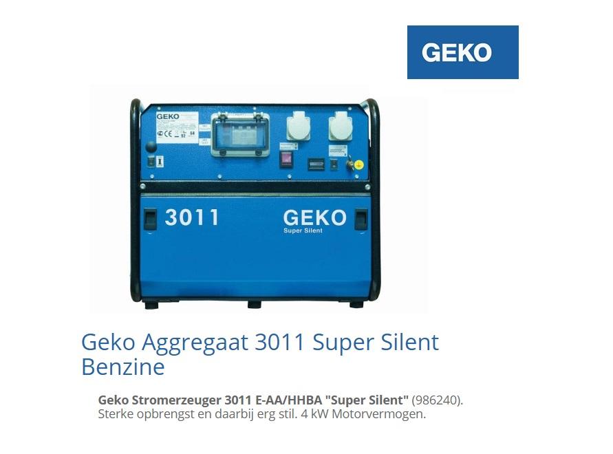 Super silent Benzine Aggregaat 3011 E-A-HEBA | DKMTools - DKM Tools