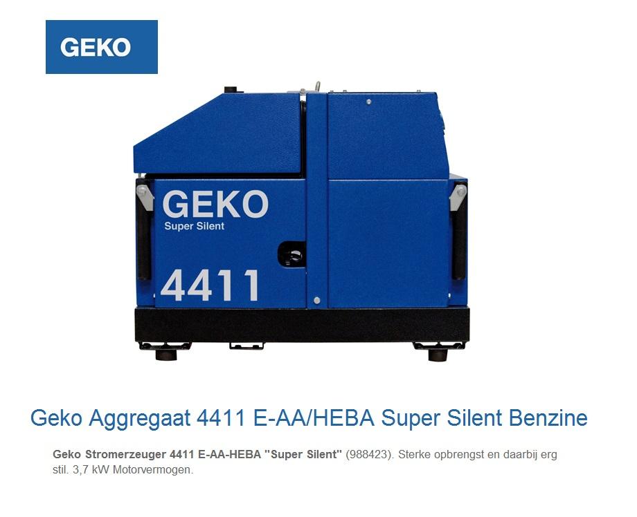 Super silent Benzine Aggregaat 4411 E-AA-HEBA SS | DKMTools - DKM Tools