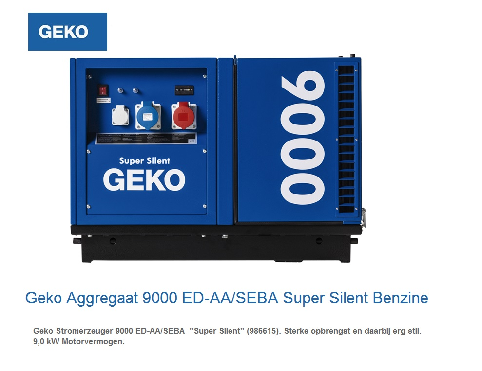 Super silent Benzine Aggregaat 9000 ED-AA-SEBA SS | DKMTools - DKM Tools