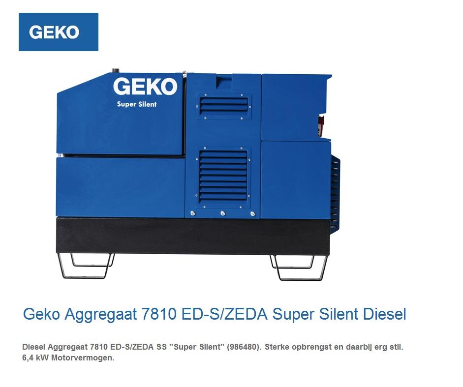 Super silent Diesel Aggregaat 7810 ED-S-ZEDA S | DKMTools - DKM Tools