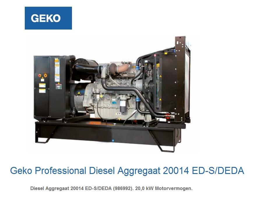 Professional Diesel Aggregaat 20014 ED-S-DEDA | DKMTools - DKM Tools