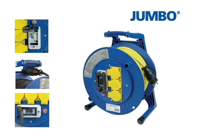Jumbo Kabelhaspel H07RN F 4 met aardlek schakelaar   DKMTools - DKM Tools