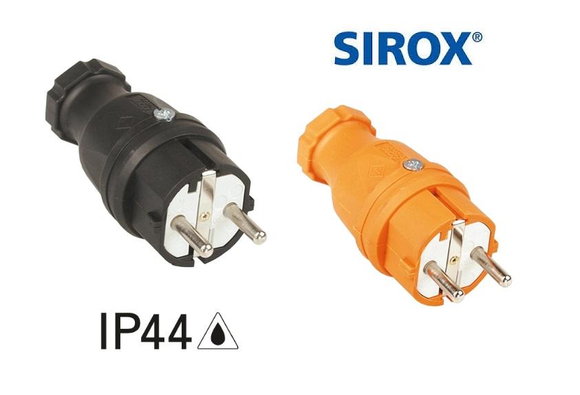 Rubber stekker met polyamide inlegstuk IP44 | DKMTools - DKM Tools