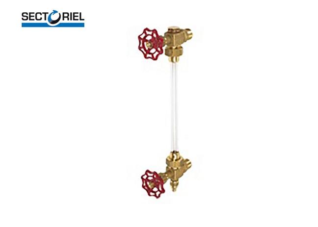 Messing Peilglas met afsluiters L 135 | DKMTools - DKM Tools
