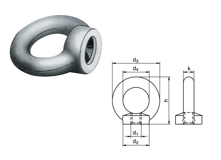 Oogmoer DIN 582 | DKMTools - DKM Tools
