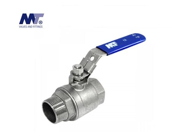 Kogelkraan RVS 316 2-delig BSP bi-bu | DKMTools - DKM Tools