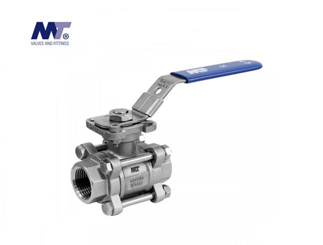 Kogelkraan RVS 316 3-delig Direct Mount | DKMTools - DKM Tools