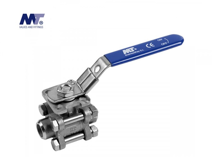 Kogelkraan RVS 316 3-delig stomplas | DKMTools - DKM Tools