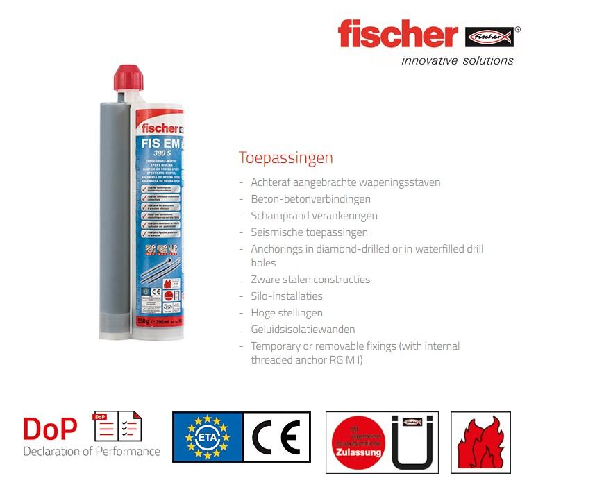 Fischer Injectiemortel FIS EM 390 S   DKMTools - DKM Tools
