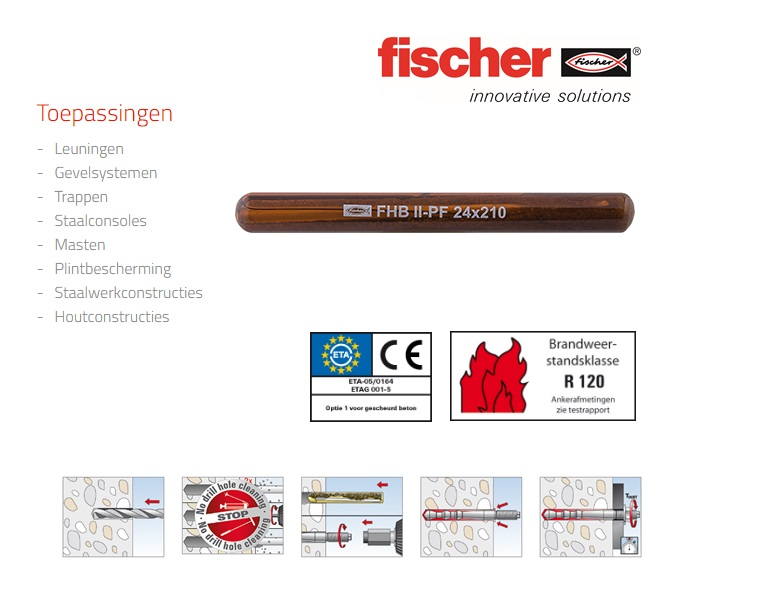 Fischer Glascapsule FHB II-PF   DKMTools - DKM Tools