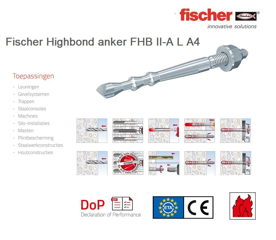 Fischer Highbond anker FHB II-A L A4   DKMTools - DKM Tools