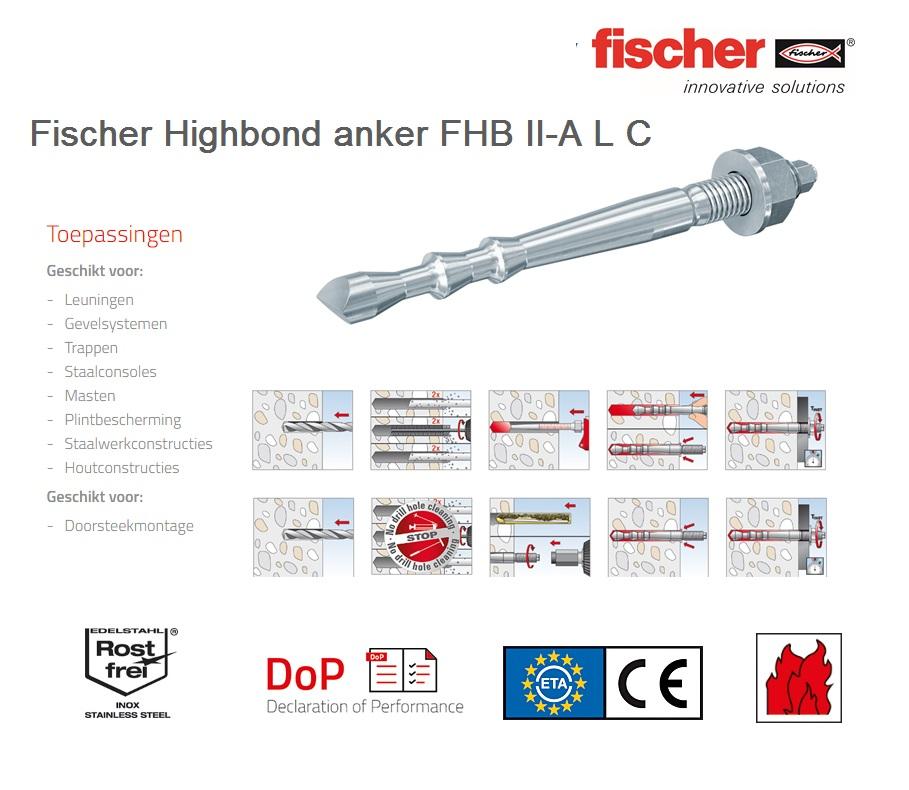 Fischer Highbond anker FHB II-A L C   DKMTools - DKM Tools