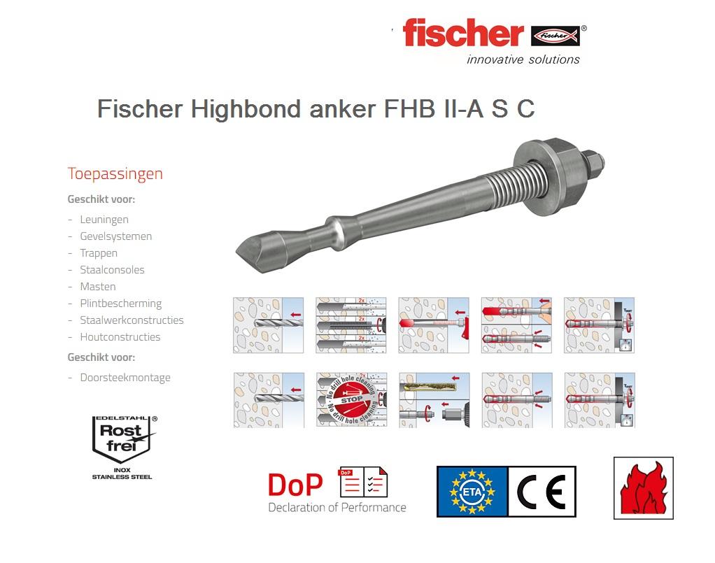 Fischer Highbond anker FHB II-A S C   DKMTools - DKM Tools
