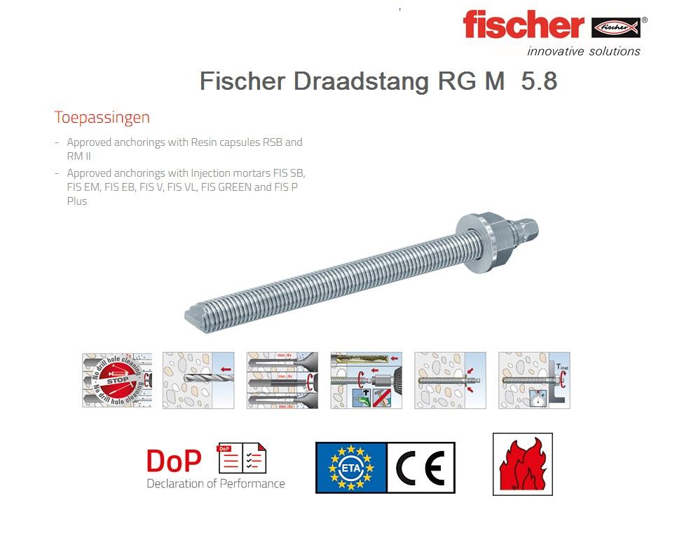 Fischer Draadstang RG M 5.8   DKMTools - DKM Tools