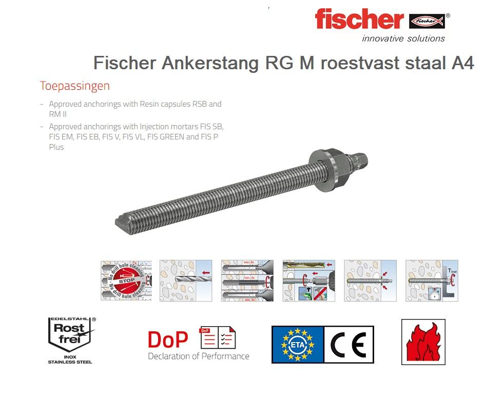 Fischer Draadstang RG M A4   DKMTools - DKM Tools