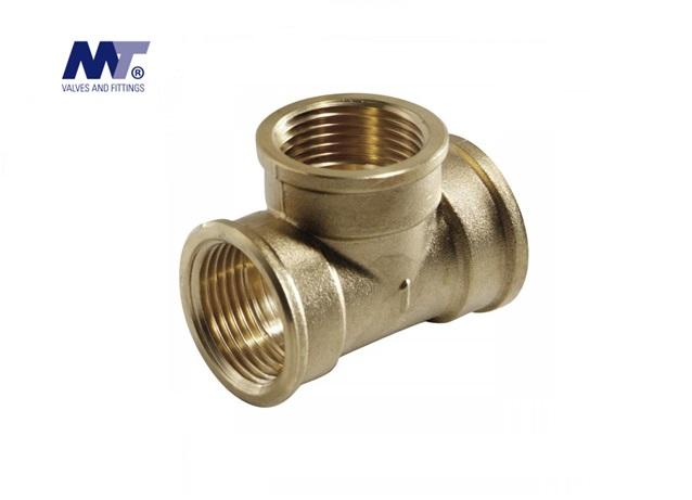 Messing T Stuk 90º Binnendraad BSP | DKMTools - DKM Tools