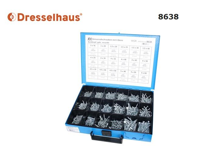 Assortiment Universele schroeven 8638 | DKMTools - DKM Tools