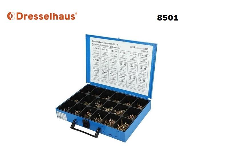 Assortiment spaanplaatschroeven 8501 | DKMTools - DKM Tools